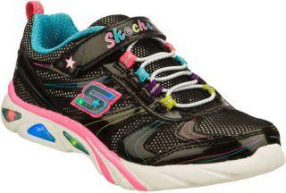 Infant/Toddler Girls Skechers S Lights Lite Gemz   Black/Multi Sneakers