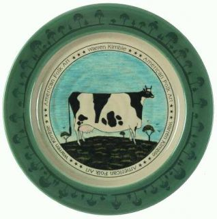 Otagiri American Folk Art Salad Plate, Fine China Dinnerware   Warren Kimble,Var