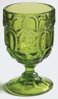 Smith Glass  Moon & Star Green Cordial Glass   Dark Green