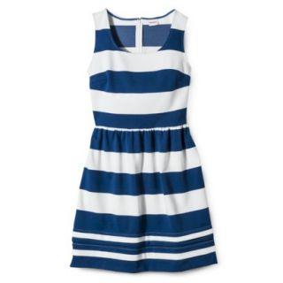 Merona Womens Ponte Dress   Blue/Sour Cream   S