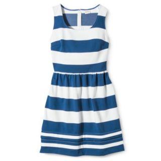 Merona Petites Short Sleeve Ponte Dress   Black/Cream MP