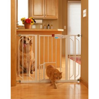 Carlson Pet Products Extra Wide Walk Thru Gate   White (30)