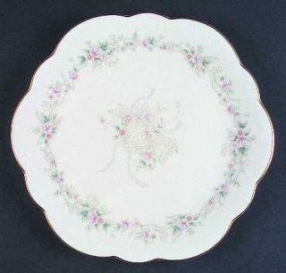 Mikasa Forever Love Wellington Cake Plate, Fine China Dinnerware   Bells & Ribbo