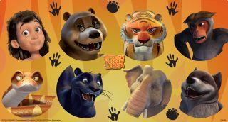 The Jungle Book Large Lollipop Sticker Sheet
