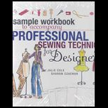 Sample Workbook to Accompany Professional Sewing Techniques for Designers (New)
