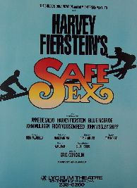 Safe Sex   Harvey Fierstein (Original Broadway Theatre Window Card)