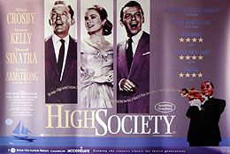 HIGH SOCIETY (RE ISSUE   BRITISH QUAD) Movie Poster
