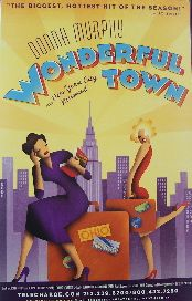 Wonderful Town (Original Broadway Theatre Window Card)