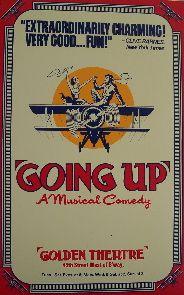 Going Up (Original Broadway Theatre Window Card)