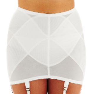 VENUS OF CORTLAND Open Bottom Girdle, White, Womens