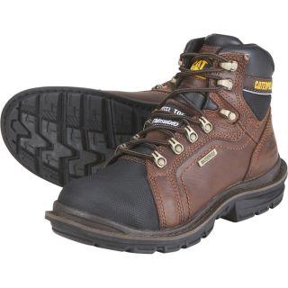 CAT 6 Inch Steel Toe Insulated Waterproof EH Work Boot   Tough Oak, Size 7,