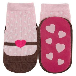Luvable Friends Infant Girls Mary Jane Sock   Pink 12 M