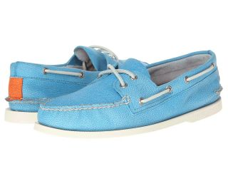 Sperry Top Sider A/O 2 Eye Washed Mens Lace Up Moc Toe Shoes (Blue)