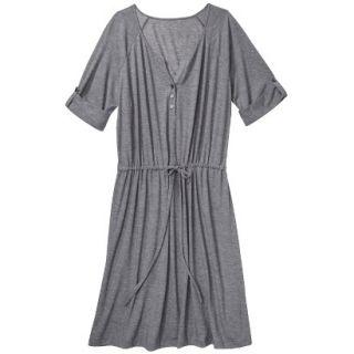 Merona Womens Plus Size 3/4 Sleeve Tie Waist Dress   Gray 3
