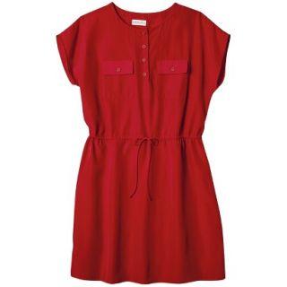 Merona Womens Woven Tie Waist Dress   Wowzer Red   XXL