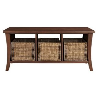 Bench Crosley Wallis Entryway Storage Bench   Mahogany