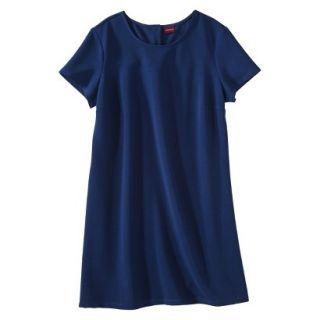 Merona Womens Plus Size Short Cap Sleeve Shift Dress   Blue 2