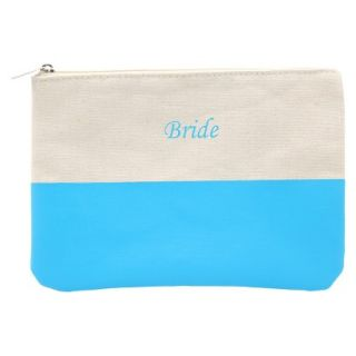 Bride Color Dipped Canvas Clutch   Pink