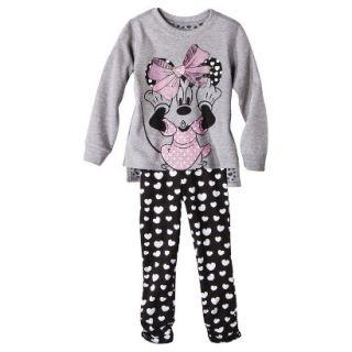 Disney Infant Toddler Girls 2 Piece Minnie Mouse Set   Grey 18 M