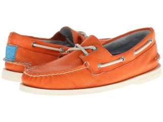 Sperry Top Sider A/O 2 Eye Washed Mens Lace Up Moc Toe Shoes (Orange)