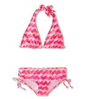 Billabong Kids Wave Halter Set Girls Swimwear Sets (Orange)