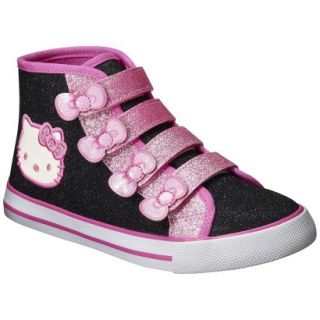 Toddler Girls Hello Kitty High Top Canvas   Black 2