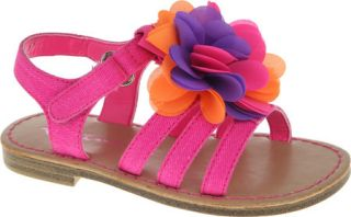 Infant/Toddler Girls Nina Delicia   Neon Pink Canvas Sandals