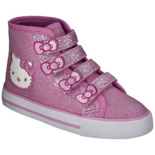 Toddler Girls Hello Kitty High Top Sneaker   Pink 7