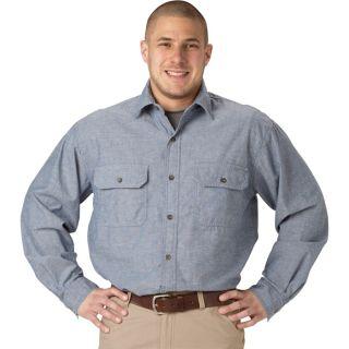 Key Long Sleeve Blue Chambray Shirt   3XL, Model 507.45