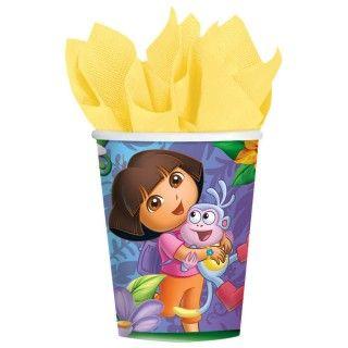 Doras Flower Adventure 9 oz. Paper Cups