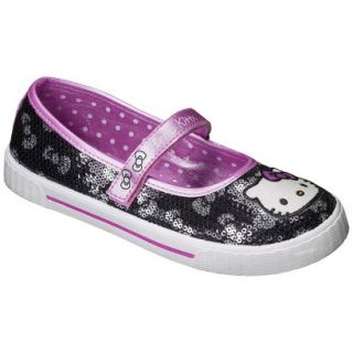 Girls Hello Kitty Sequin Sneaker   Black 3