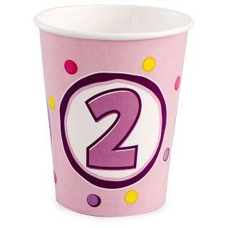 Girls Lil Cupcake 2nd Birthday 9 oz. Paper Cups