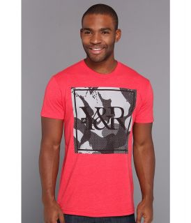 Young & Reckless Box Logo Camo Tee Mens T Shirt (Red)