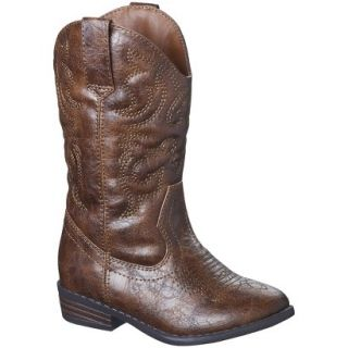 Toddler Girls Cherokee Gregoria Cowboy Boot   Brown 9