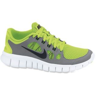 Nike Free 5.0 Running Shoes  Boys,  VOLT/COOL Grey/PURE PLATI,  Kids 4.5