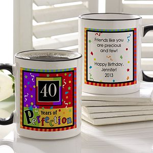 Personalized Birthday Coffee Mugs   Aged to Perfection