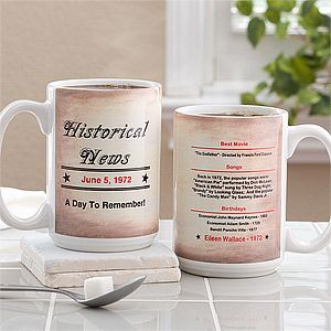 Personalized Large Coffee Mugs   The Day You Were Born