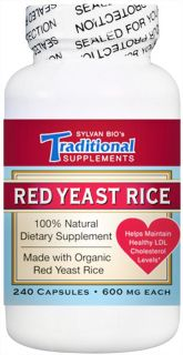Traditional Supplements   Red Yeast Rice Dietary Supplement 600 mg.   240 Capsules