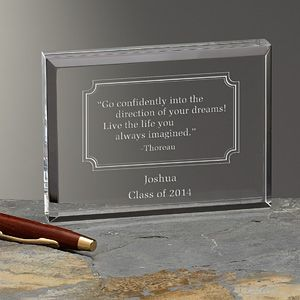 Personalized Inspirational Quotes Keepsake Gift