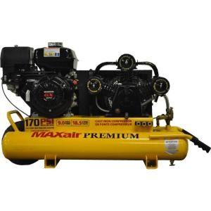 Maxair Premium Industrial 10 Gal. 9 HP GX270 Honda Engine Portable Electric Start Wheelbarrow Air Compressor TT90GE MAP