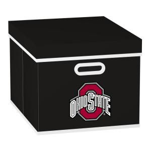 MyOwnersBox College Stackits Ohio State University 12 in. x 10 in. x 15 in. Stackable Black Fabric Storage Cube 12026 003COHS