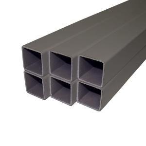 Veranda 1 1/2 in. x 1 1/2 in. x 33 1/2 in. Slate PVC Composite Baluster Kit (6 Pack) DISCONTINUED BAL SQ 33.5 SL 6PK V