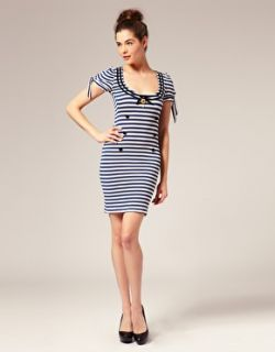 Wheels & Doll Baby  Wheels & Dollbaby Fille De Marin Sailor Dress with Striped Cap Sleeves