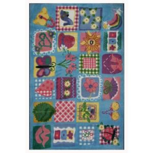 LA Rug Inc. Supreme Funky Girls Quilt Multi Colored 39 in. x 58 in. Area Rug TSC 247 3958