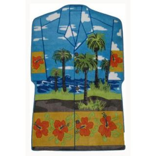 LA Rug Inc. Supreme Hawaiian Shirt Multi Colored 39 in. x 58 in. Area Rug TSC 230 3958
