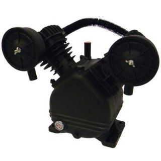 V Twin Cylinder Oil Lubricated Belt Drive Cast Iron Air Compressor Pump S040 0386