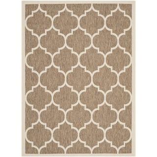 Easy to maintain Safavieh Indoor/ Outdoor Courtyard Brown/ Bone Rug (4 X 57)