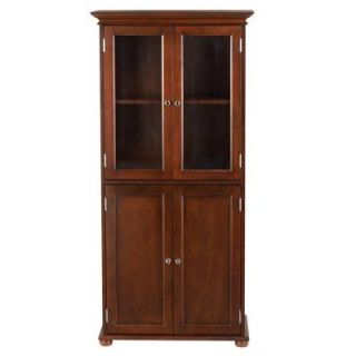 Home Decorators Collection Hampton Bay 25 in. W Linen Cabinet in Sequoia 2601200960
