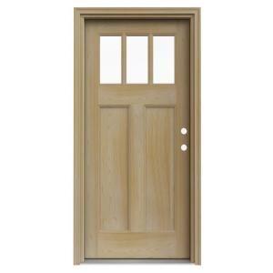 Jeld wen 9 lite unfinished hemlock dutch entry door with for 9 lite wood exterior door