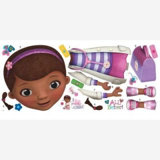 Doc McStuffins Peel and Stick Giant 18 Piece Wall Decals RMK2283GM